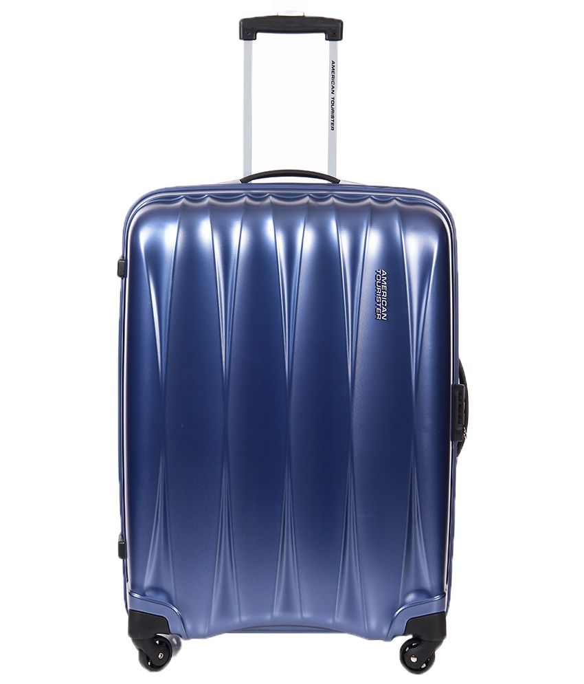 American Tourister Medium (Between 57 cm- 68 cm) 4 Wheel Hard Blue ...