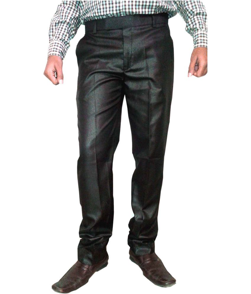 Jhon Diego axe Brown Poly Viscose Fromal Trouser For Men