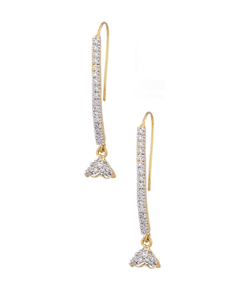 Voylla Pair Of Dangler Earrings Embellished With Cz Stones