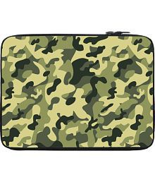 Snoogg Camo Green Military 2764 13 To 13.6 Inch Laptop Sleeve Green Laptop Sleeve