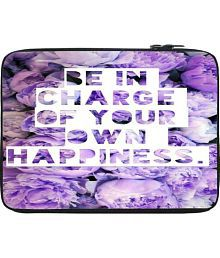 Snoogg In Charge Of Happiness 10 To 10.6 Inch Laptop Sleeve Purple Laptop Sleeve