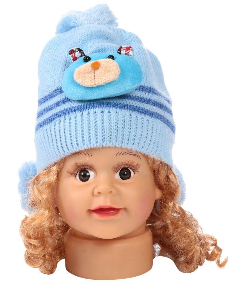 Bizarro.in Pretty Blue Woollen Cap For Kids
