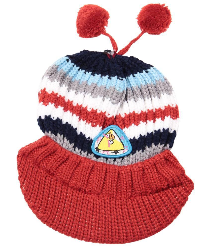 Bizarro.in Red Woollen Cap For Boy