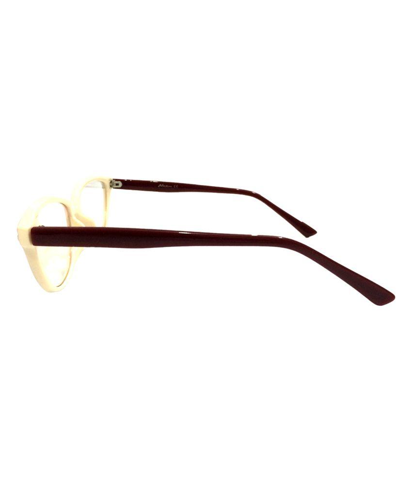 f450686b10cd ... Designer Frames Maroon   Cream Anti-glare Non Metal Designer Spectacle  Frame ...
