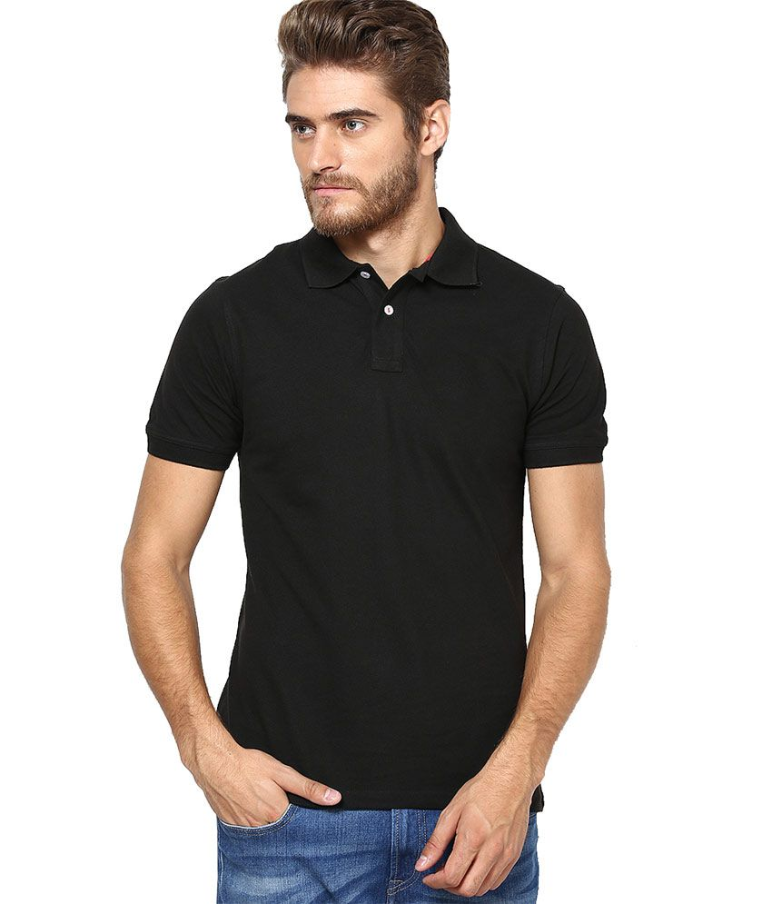 Lee Marc Black Cotton T Shirt