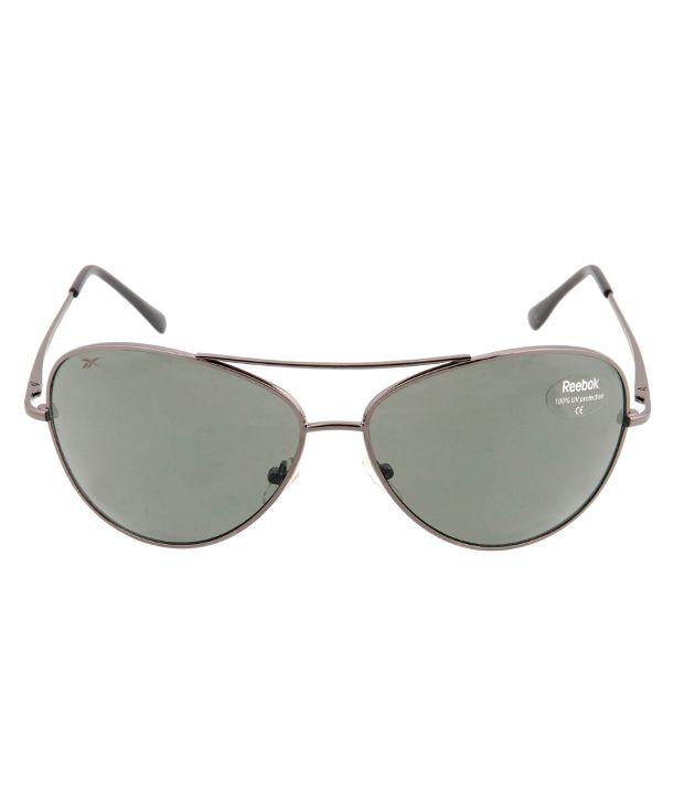 65ac05337c48 Reebok Dark Green Aviator Oval Sunglasses For Men - Buy Reebok Dark ...
