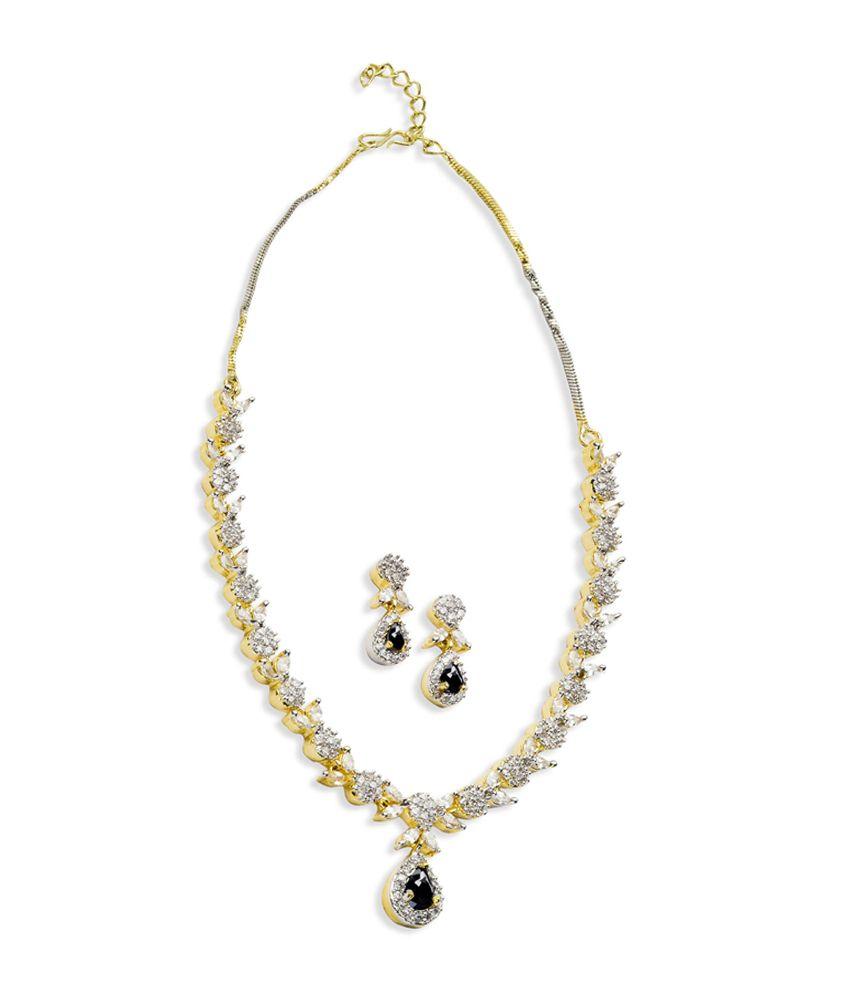Tiara Gems Contemporary Alloy Necklace Set