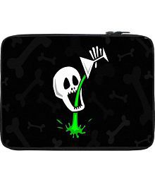 Snoogg Skull Drinking Poison 2787 10 To 10.6 Inch Laptop Sleeve Black Laptop Sleeve