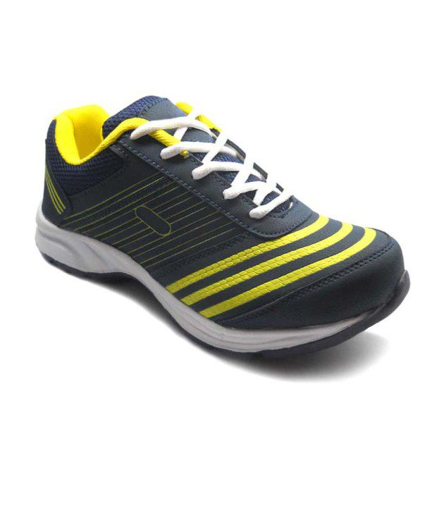 Anr Yellow Synthetic Leather Sport Shoes