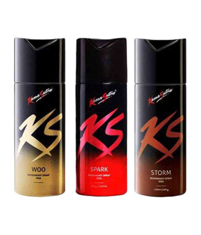 Kamasutra Men Deodrant (spark, Storm, Woo) 150ml Each - Pac...