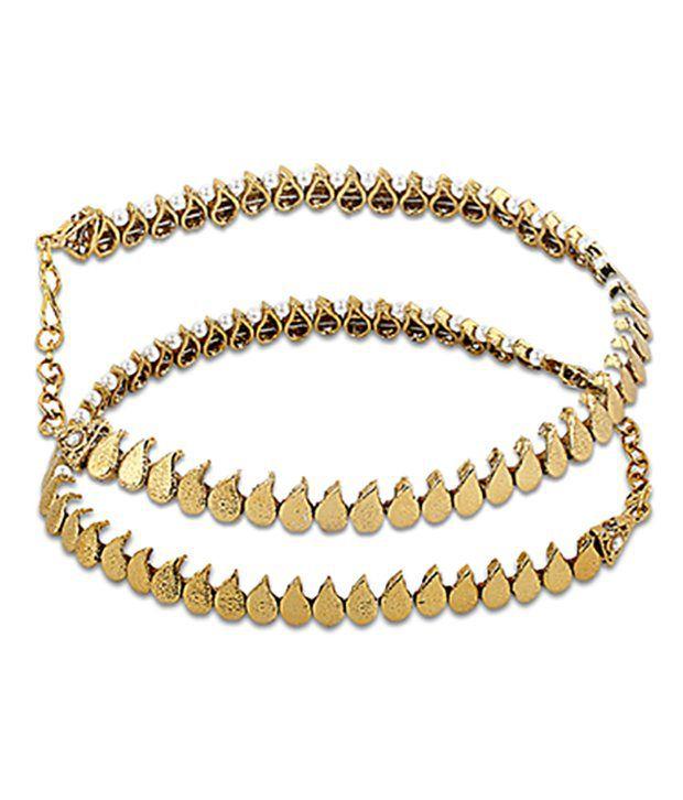 Ratnakar Golden Paisley Design Payals