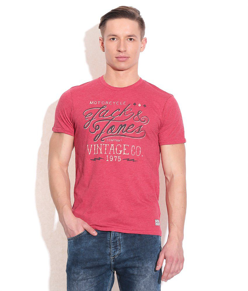 Jack & Jones Red Cotton T-Shirt