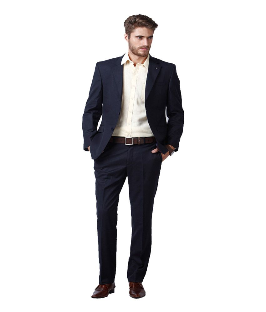 Lee Marc Blue Poly Blend Formal Wear Suit
