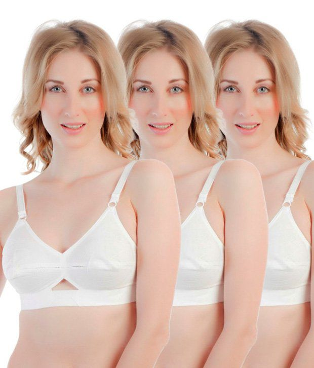 058cfc70b Buy Centra Multi Color Cotton Bra Pack of 3 Online at Best Prices in India  - Snapdeal