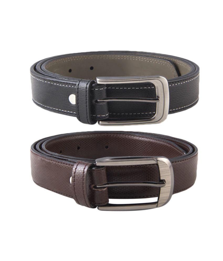 Kvalito Combo Of Formal Brown And Black Belt