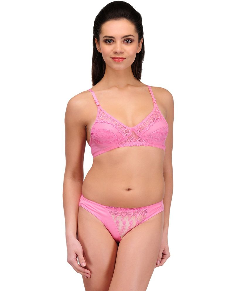 c1256817ccac Buy Nutex Sangini Bridal Lingerie Set (pink) -ns0290s Online at Best Prices  in India - Snapdeal