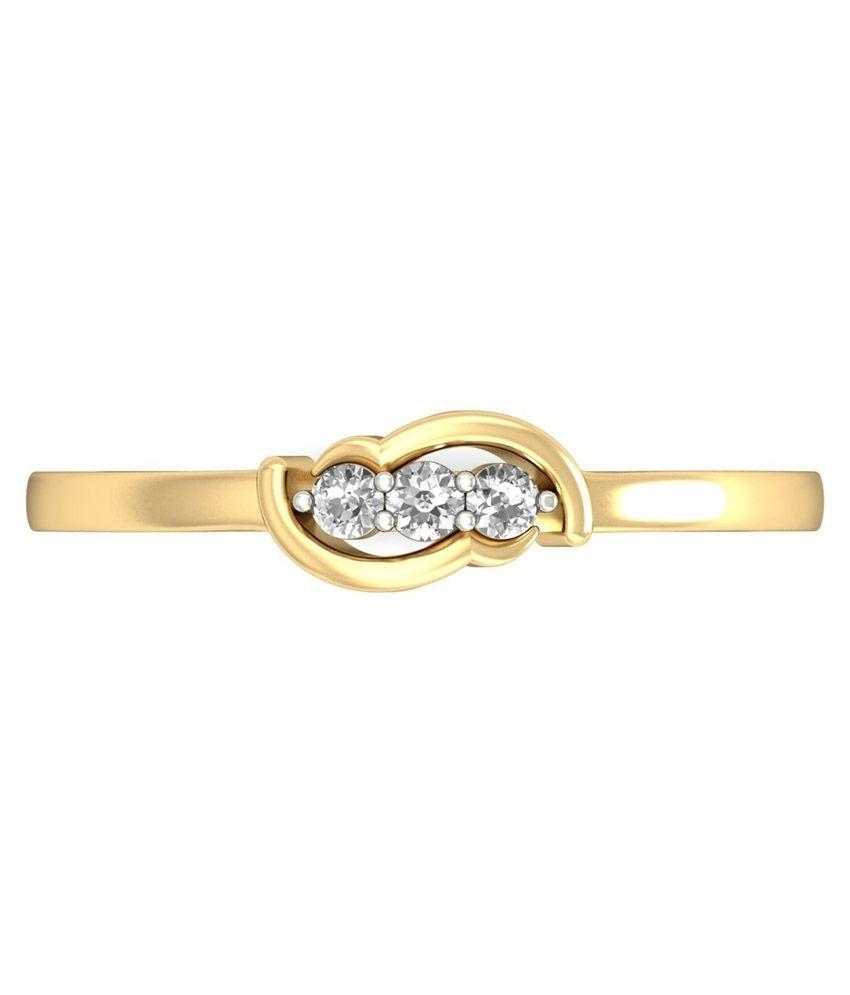 WearYourShine PC Jeweller 18KT Gold The Ophelia Diamond Ring