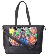 Kiara 10650_black Black Satchel Bags