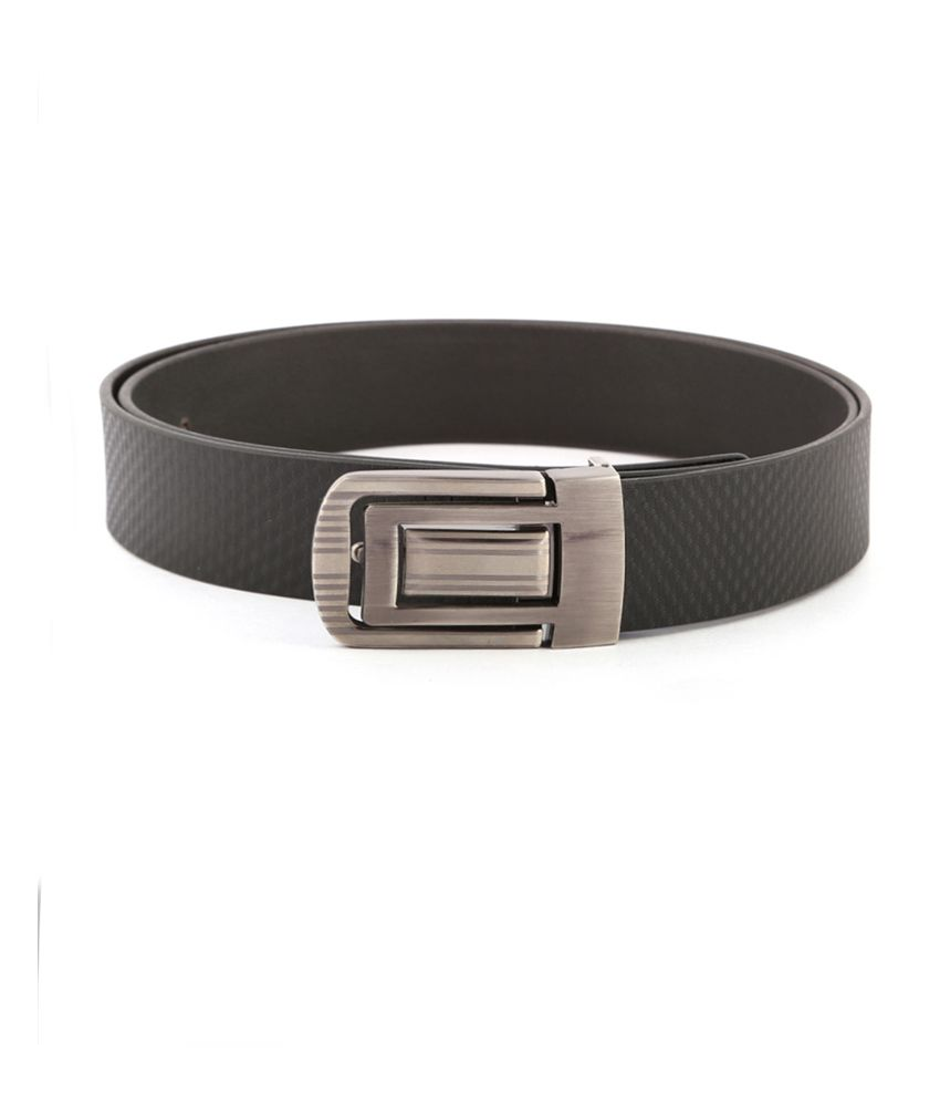 Buckleup Black Non Leather Single Pin Buckle Formal Belt For Men
