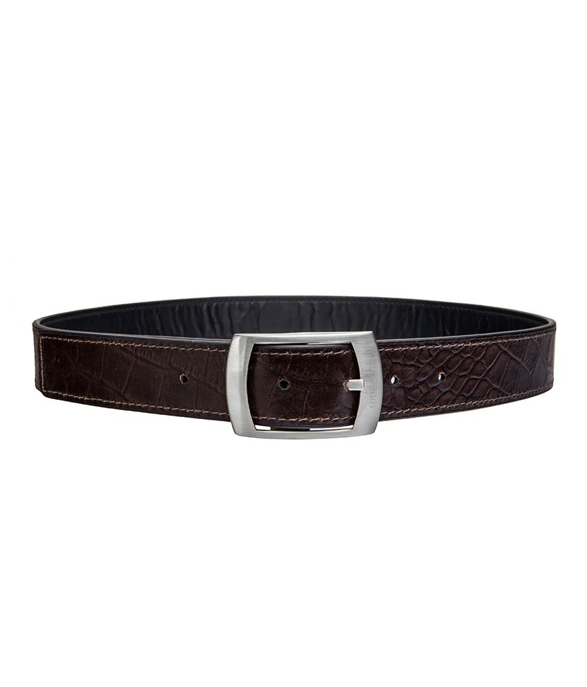 Hidesign Lucas Black And Brown Reversible Leather Belt