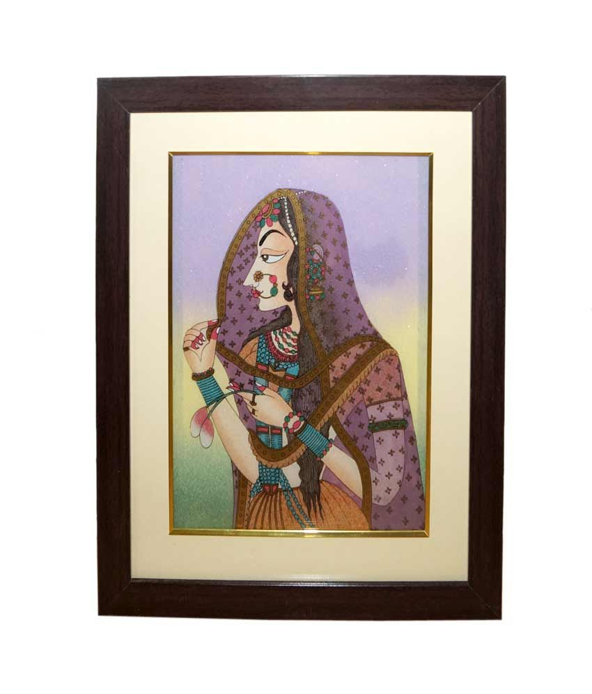 R S Jewels Bani Thani Ladies Gemstone Rajasthani Wall Painting