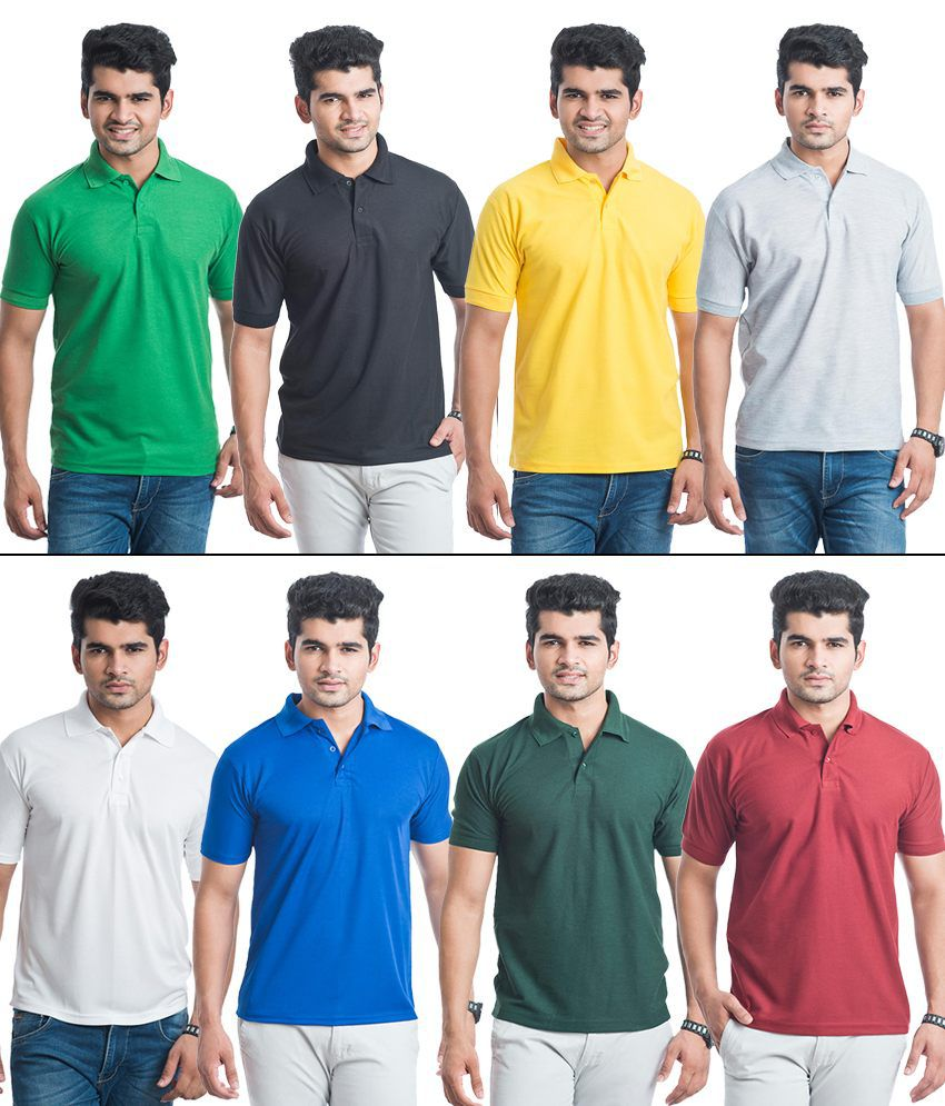 556073a4337 Eprilla Combo Of 8 Cotton Blend Polo T-shirts - Buy Eprilla Combo Of 8  Cotton Blend Polo T-shirts Online at Low Price - Snapdeal.com