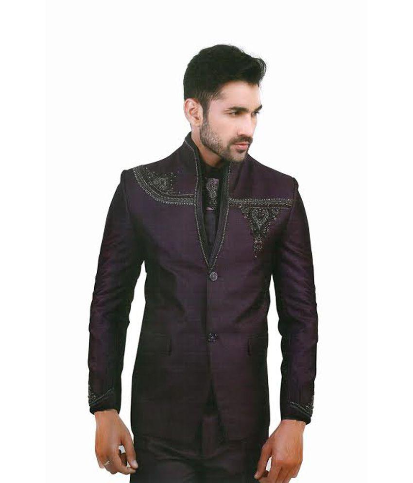 Lakhanss Purple Poly Blend Party Wear Blazer - Buy Lakhanss Purple Poly Blend Party Wear Blazer ...