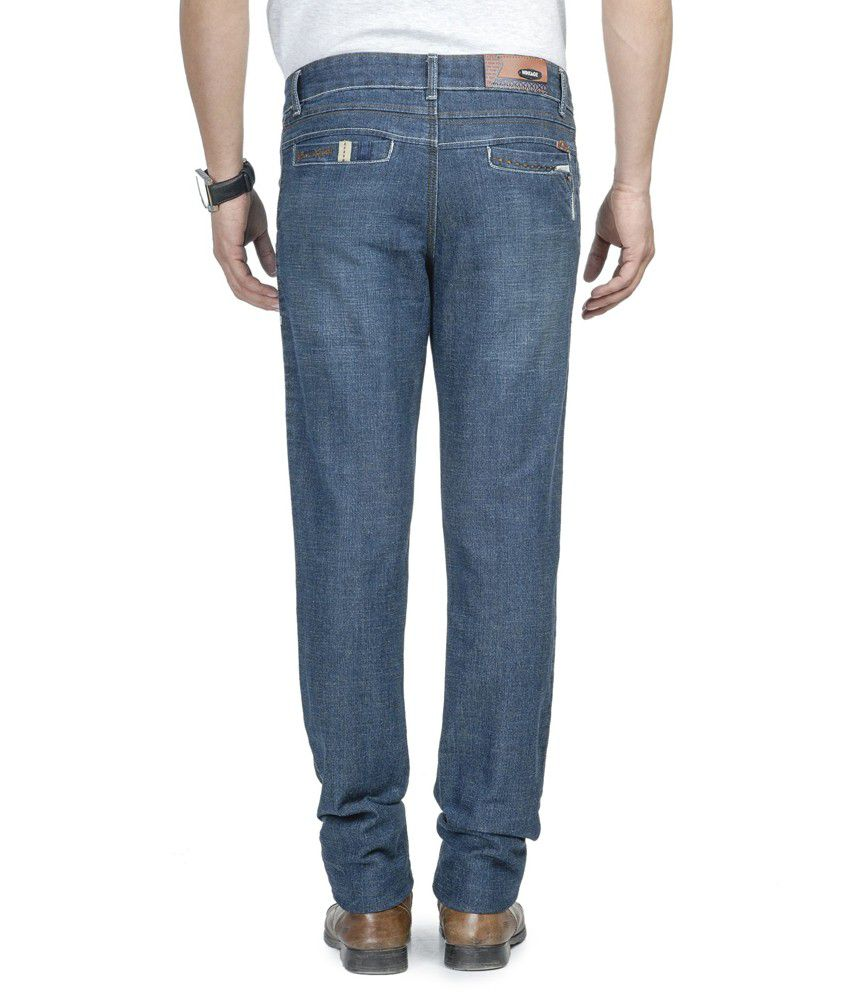 Wintage Trendy Blue Jeans