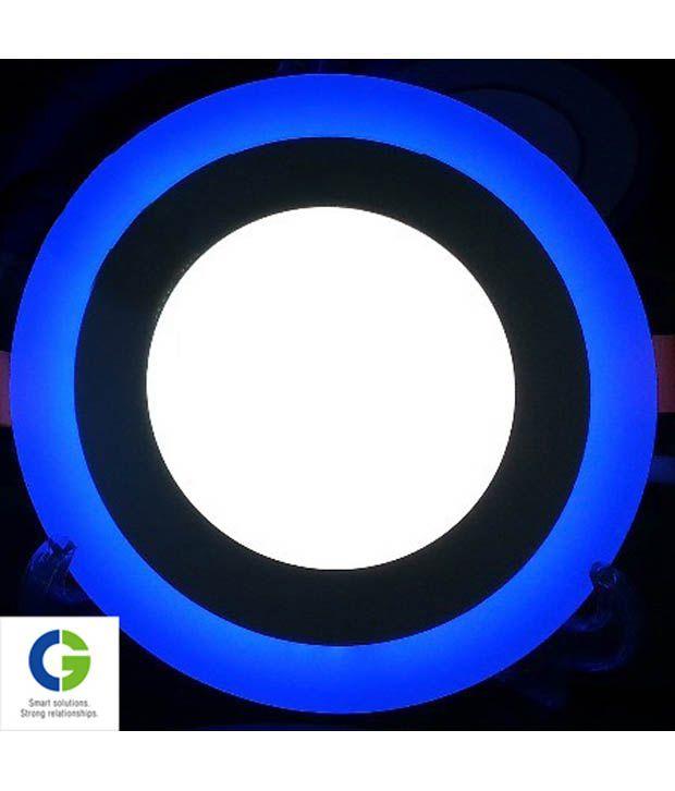 Crompton LED Panel Cool Daylight with Blue Ring 7 Watt Round