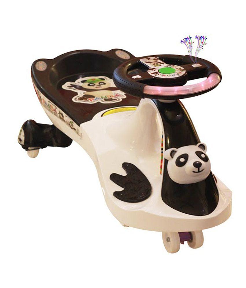 Panda Uae360 Magic Swing Car White And Black With Panda Face