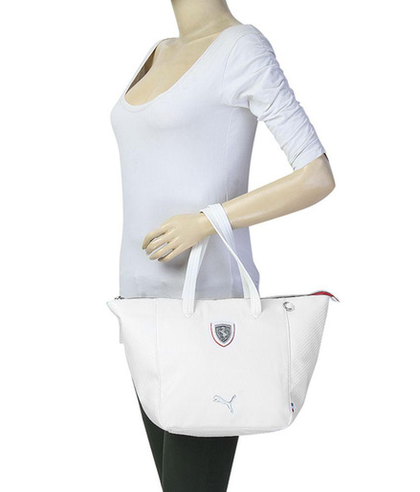 Puma White Ferrari Handbag