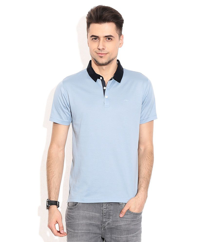 colorplus blue cotton polo t shirt buy colorplus blue cotton polo t shirt online at low price. Black Bedroom Furniture Sets. Home Design Ideas