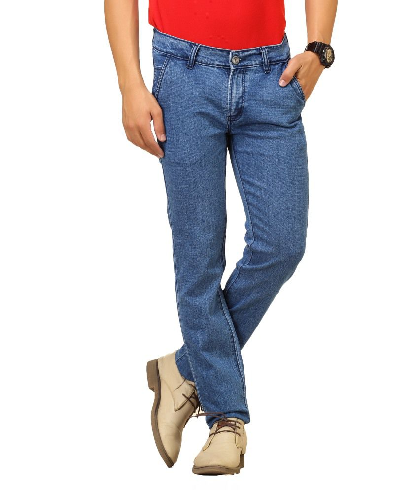 Cottinfab Blue Cotton Jeans