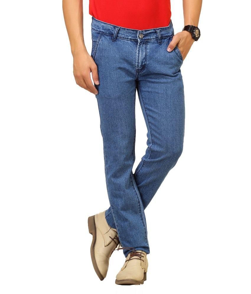 Cottinfab Blue Cotton Jeans