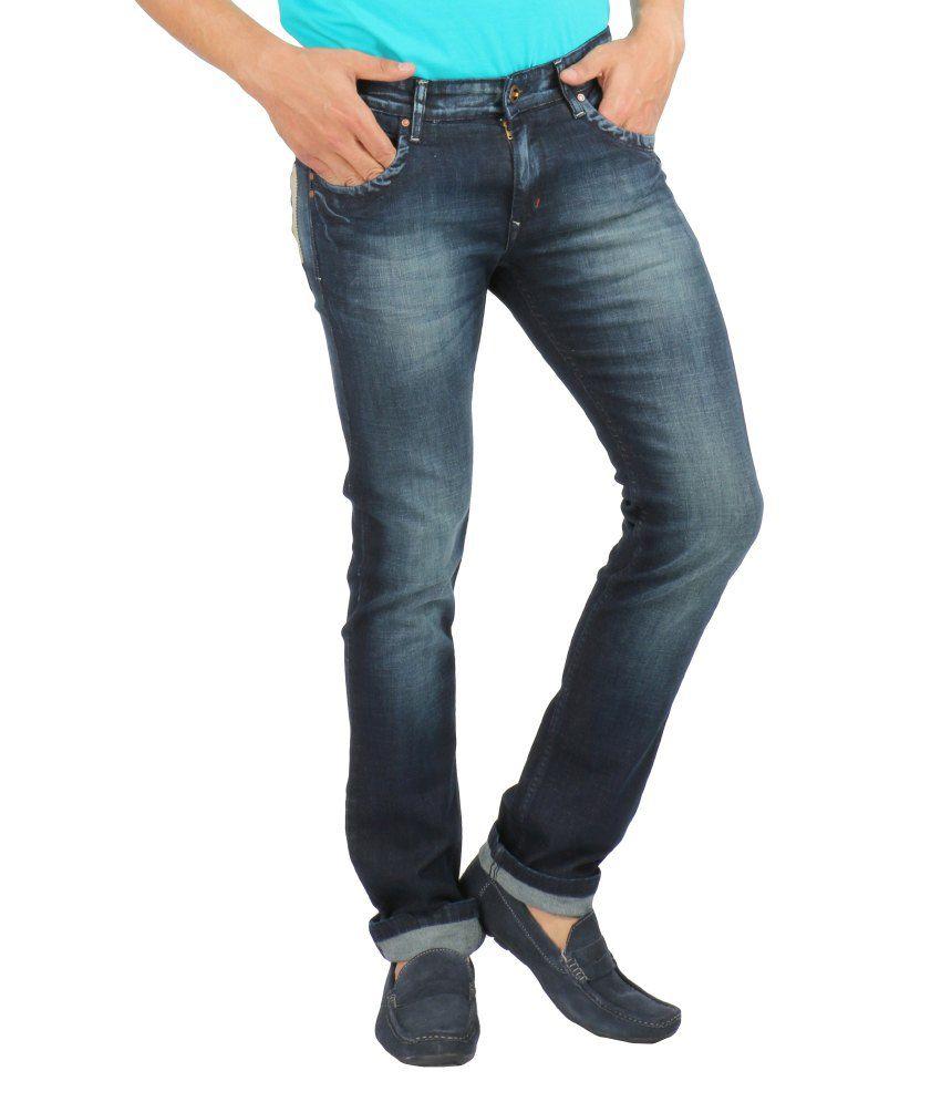 Streetguys Blue Cotton Blend Basics Men's Jeans