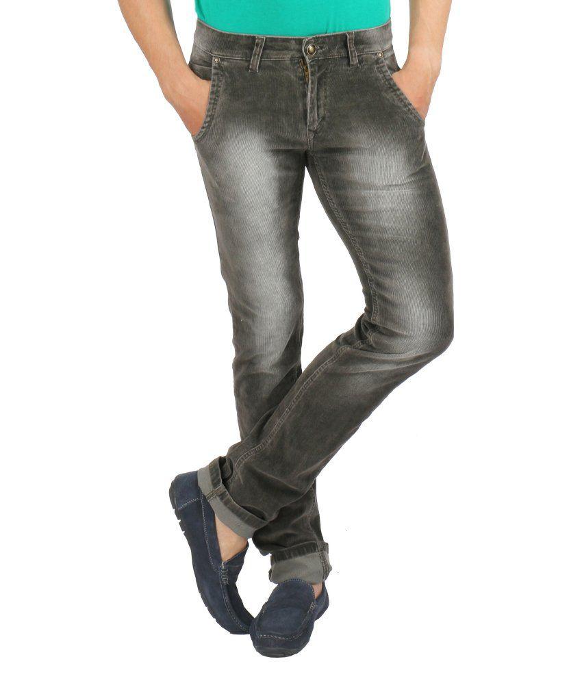 Streetguys Brown Cotton Blend Basics Men's Jeans