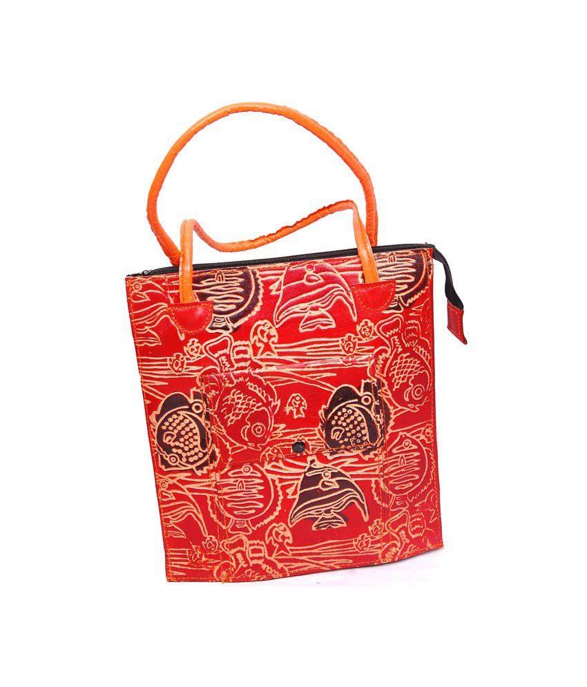 Fortune Multicolor Leather Women's Satchel Bag