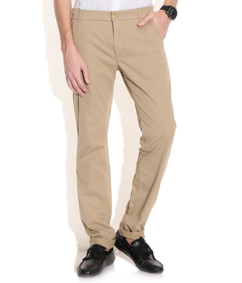 GAS Brown Noal F/P Fit Casual Trousers