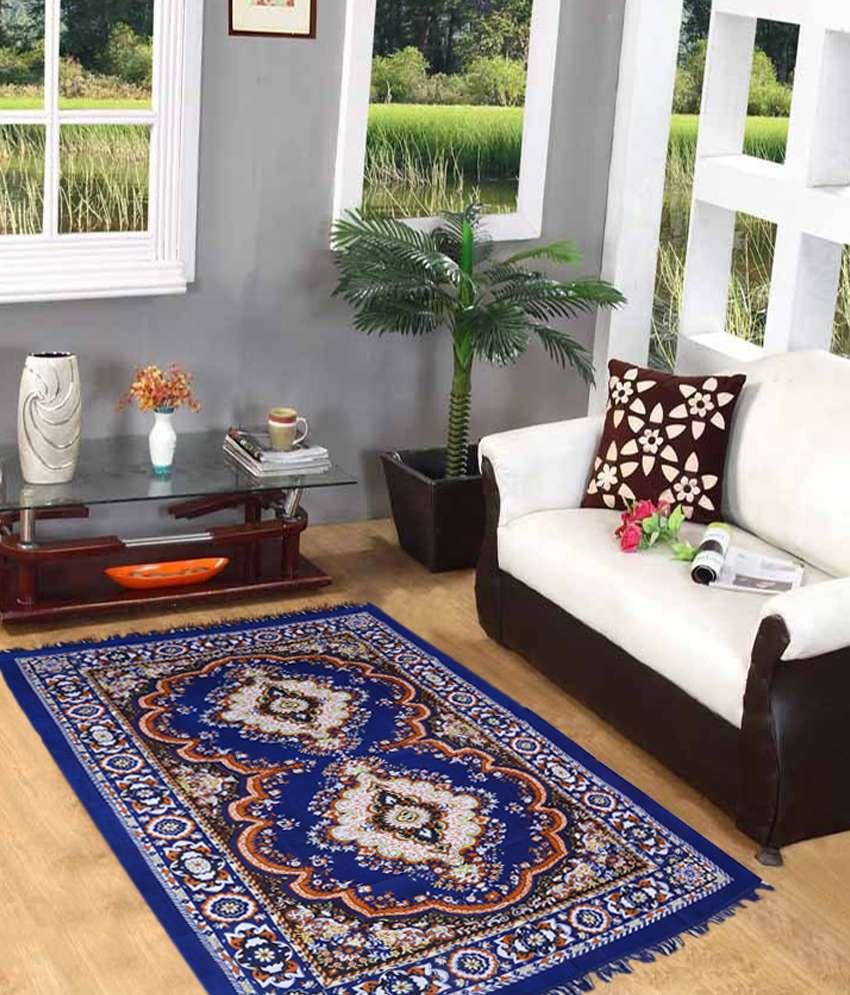 Home Elite Blue Designer Quilted Rug