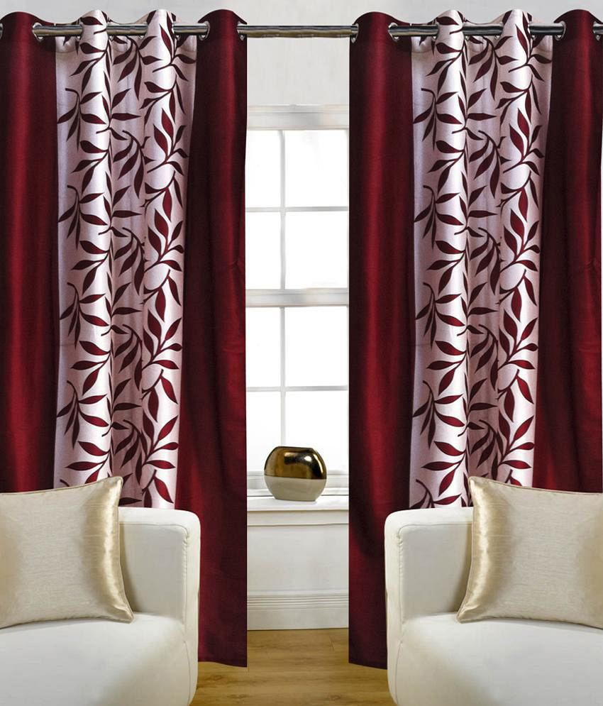 Optimistic Home Furnishing Set Of 2 Door Eyelet Curtains
