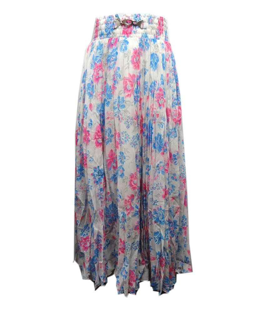 Threads Multicolor Silk Printed Skirt