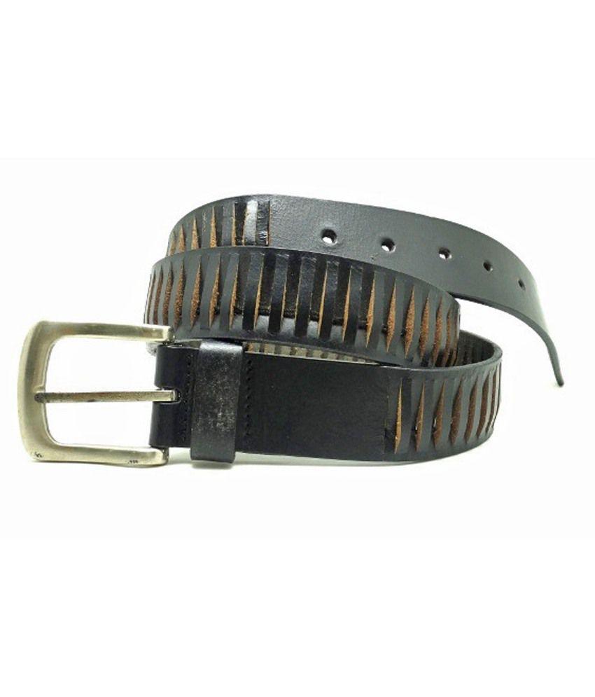 Urban Vintage Black Leather Belt