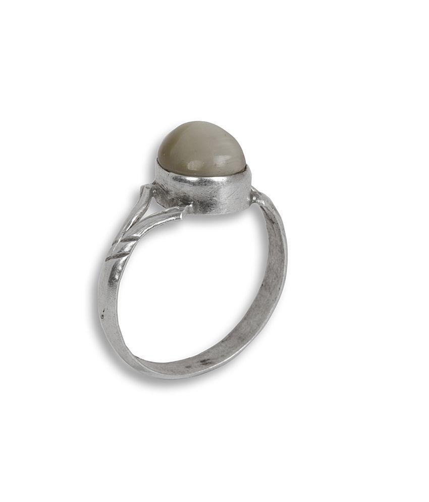 Silverwala 92.5 Sterling Silver Contemporary Designer Ring