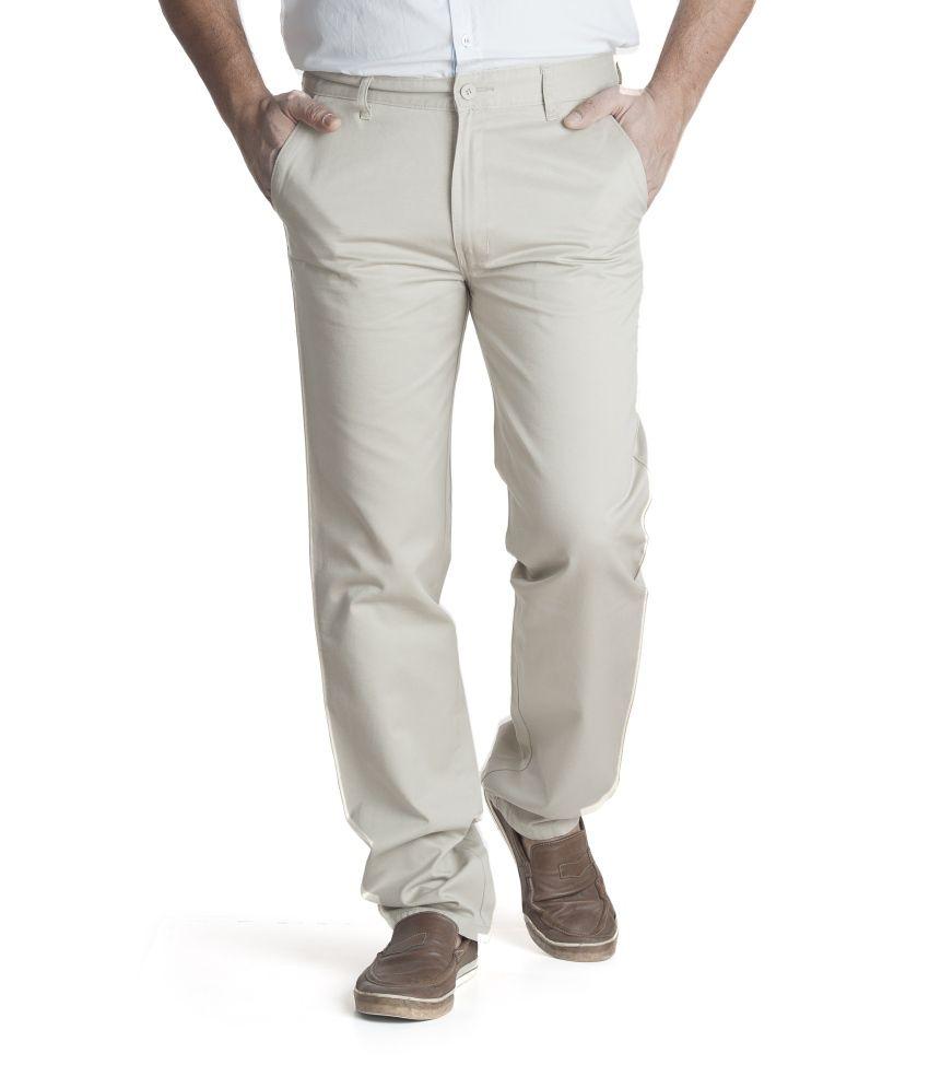 Zync9 Beige Cotton Trousers