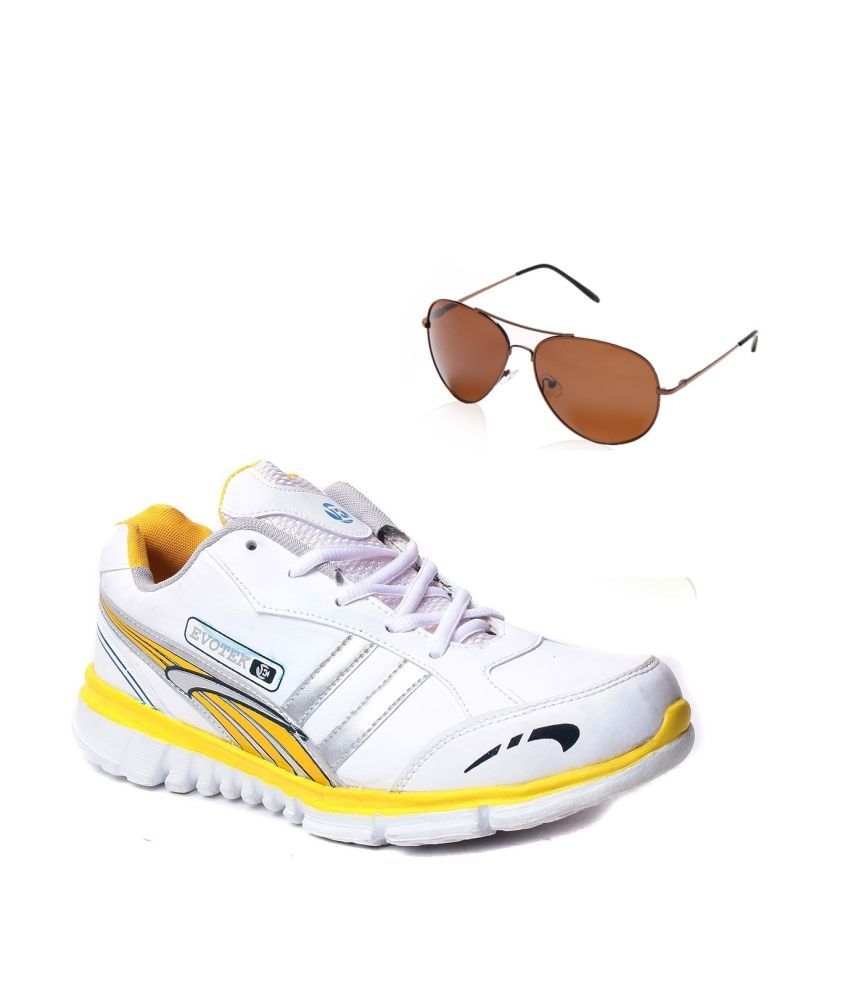 Hm-evotek Mens Sports Shoes With Blue-tuff Sunglass
