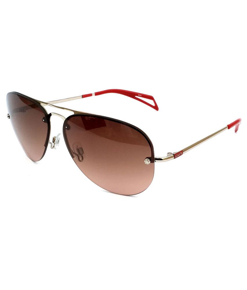Levis Designer Copper Red Rimless Aviator Sunglasses ...