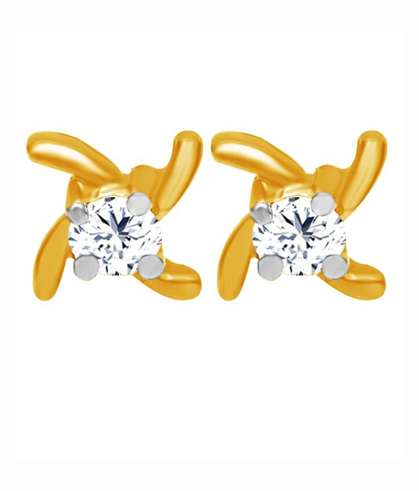 Jacknjewel 18kt Gold Plated Contemporary Earrings