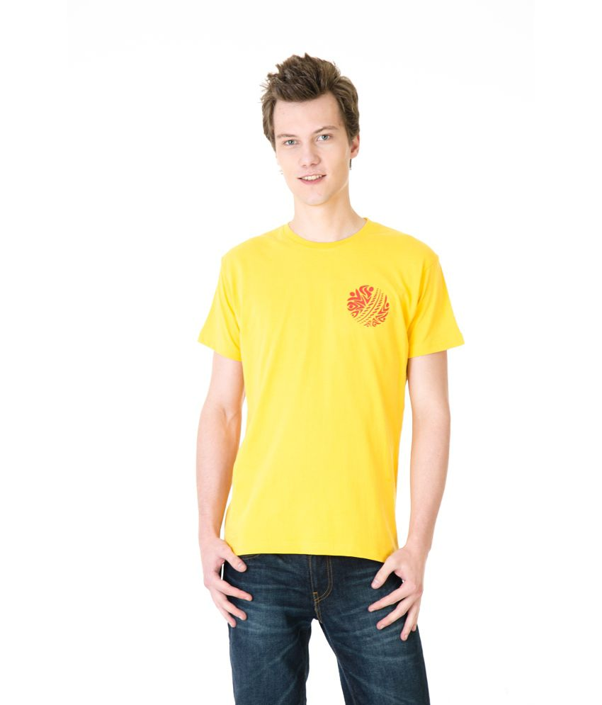 Posh 7 Yellow Small Ball Cricket T Shirt