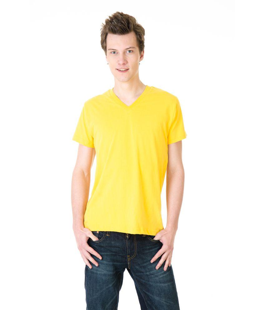 Posh 7 Yellow V Neck T Shirt