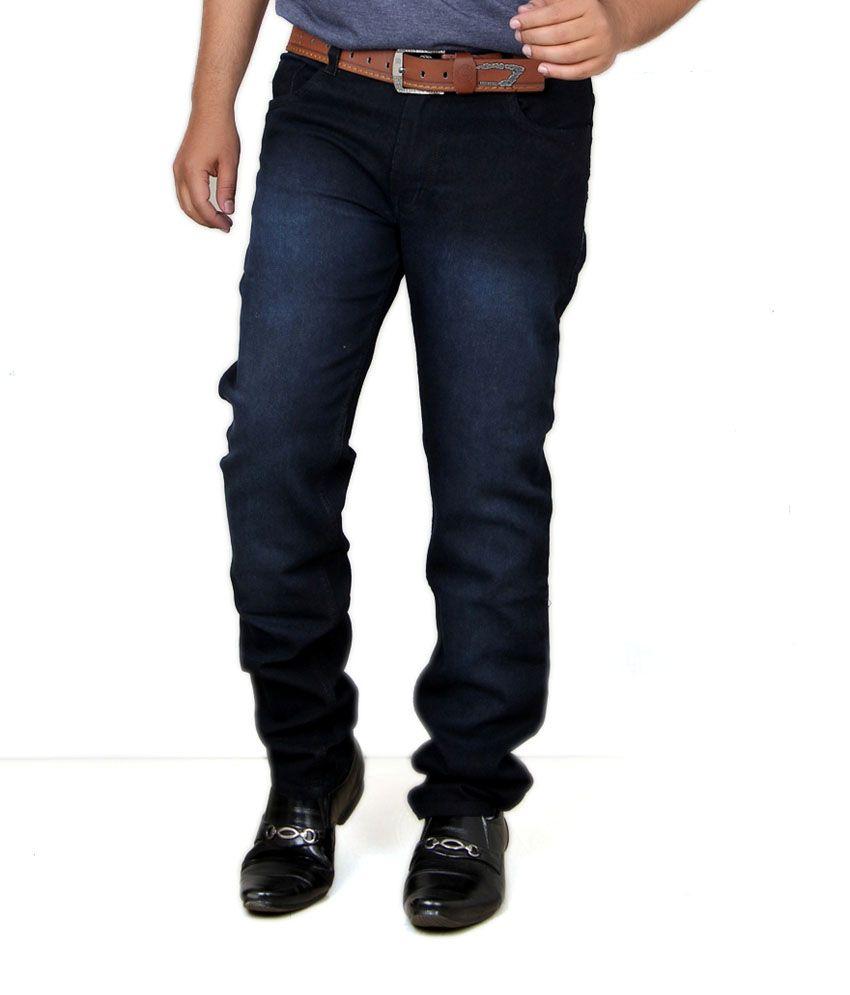 Acro Black Cotton Trendy Stretch Men's Denim Jeans